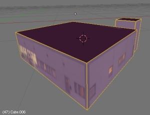 Hus-objektet med markerte sømmer