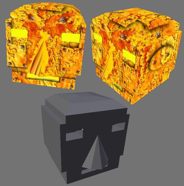 Enkel robot-mesh med materiale laget ved hjelp av UV Mapping